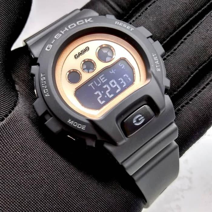 Casio GMD-S6900MC-1DR G-Shock Digital Sporty Design Matte Black Resin Band Rose Gold Dial Original Watch GMD-S6900MC