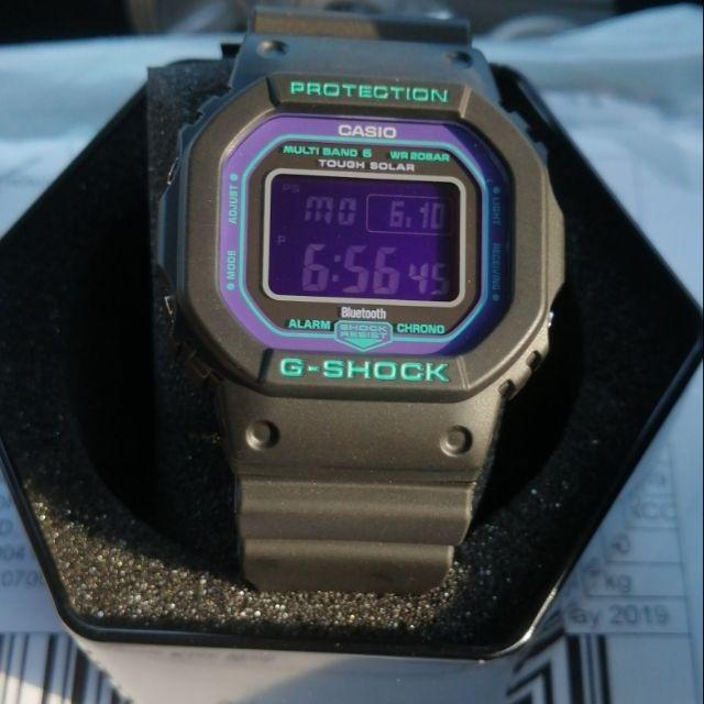 Casio GW-B5600BL-1DR G-Shock Analog Digital Sporty Design TOUGH SOLAR Bluetooth Resin Band Original Watch GW-B5600BL