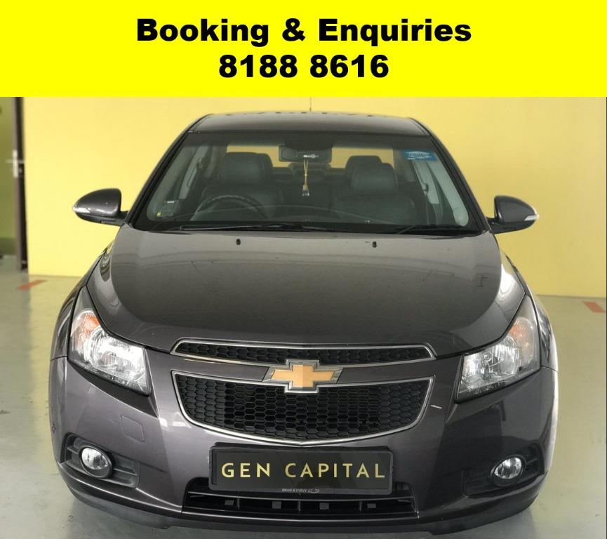 Chevrolet Cruze HAPPY TUESDAY!! JUST IN!! Fuel efficeint, spacious & well maintained! FREE Petrol Voucher & FREE rental for new contract signup! Just $500 Deposit driveaway immediately! Whatsapp 8188 8616 now to enjoy special rates!!