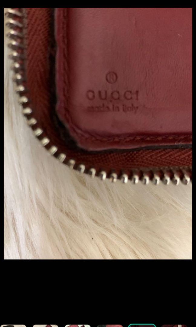 Dompet Gucci authentic, full leather black and red mewah, kondisi 85% OK, serius only, dompet aja!