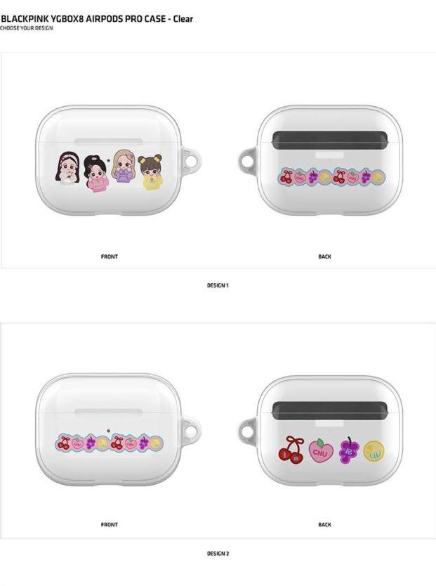 [GROUP ORDER] BLACKPINK YGBOX8 AIRPODS PRO CASE CLEAR
