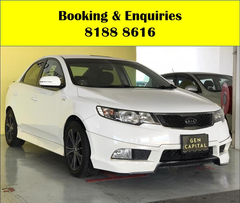 Kia Cerato HAPPY TUESDAY!! JUST IN!! Fuel efficeint, spacious & well maintained! FREE Petrol Voucher & FREE rental for new contract signup! Just $500 Deposit driveaway immediately! Whatsapp 8188 8616 now to enjoy special rates!!