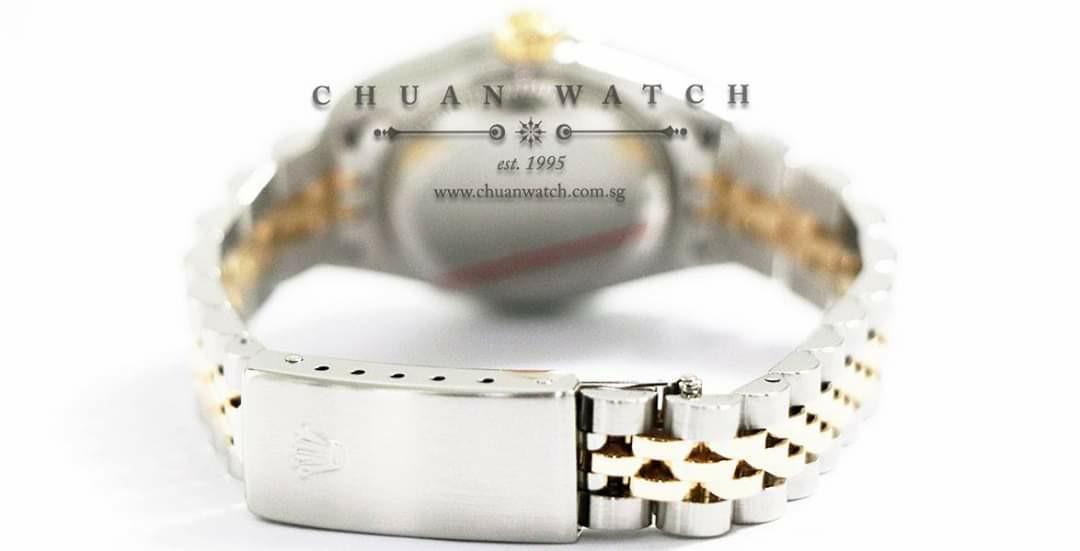 Pre-Owned Rolex Ladies' DateJust Two-Tone 26mm 79173 Silver Sunburst Diamonds - Discontinued