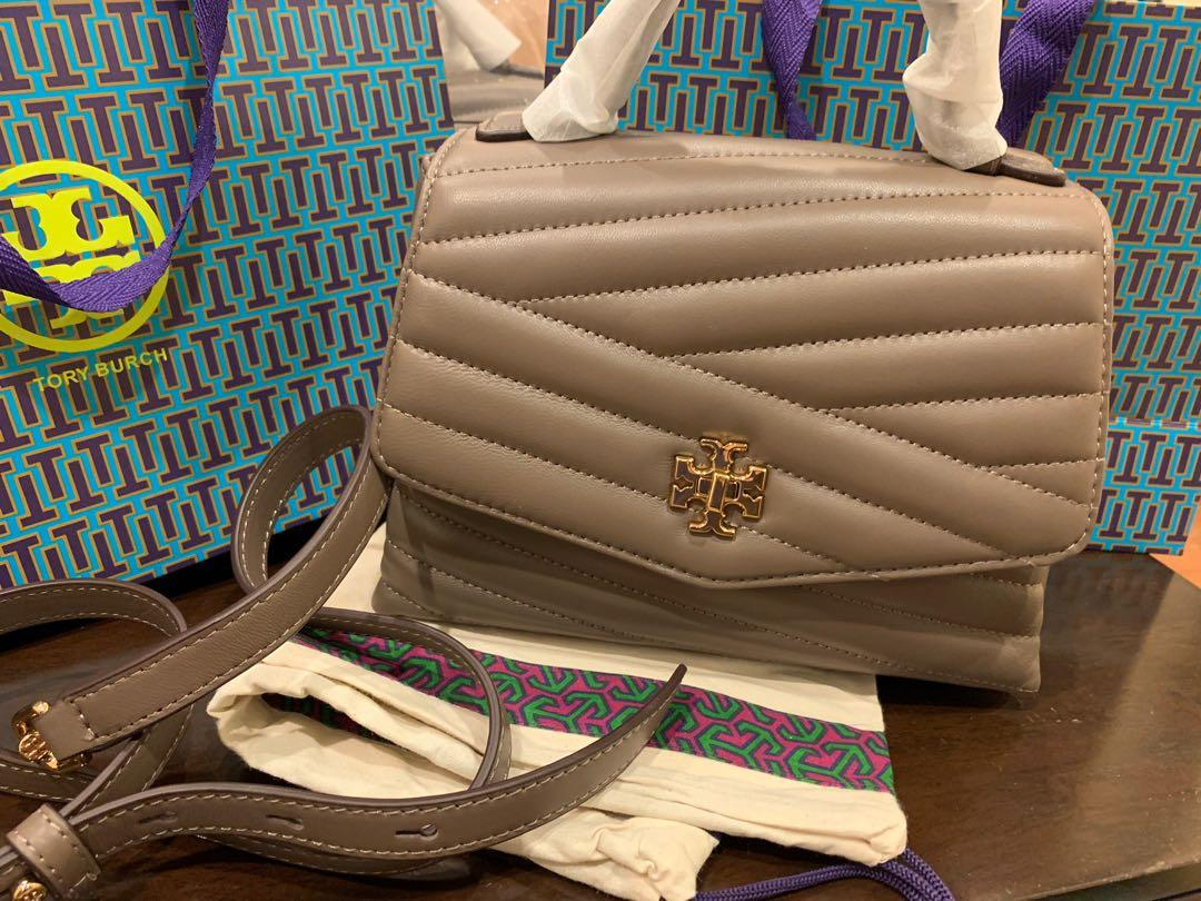 Ready Stock Authentic Kira chevrontop handles satchel in light taupe