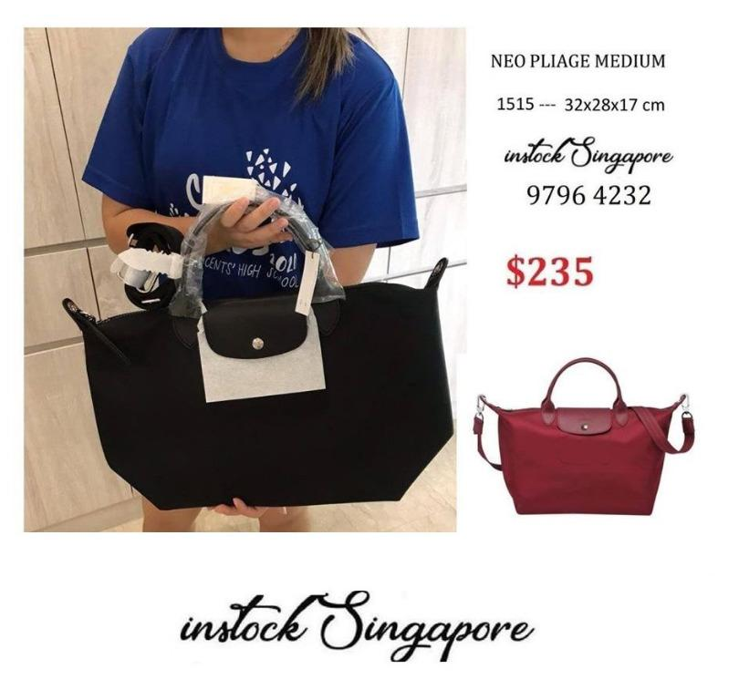 READY STOCK authentic new  Longchamp NEO LE PLIAGE COLLECTION TOP-HANDLE M short handle with sling