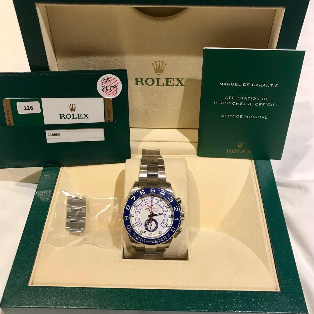 Rolex Yatch Master 2 / Yatchmaster II  YM2 SS 116680 Discontinued model with blue hands