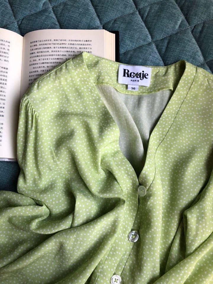 Rouje French fashion brand Jeane Damas fashion blogger polka dot retro top