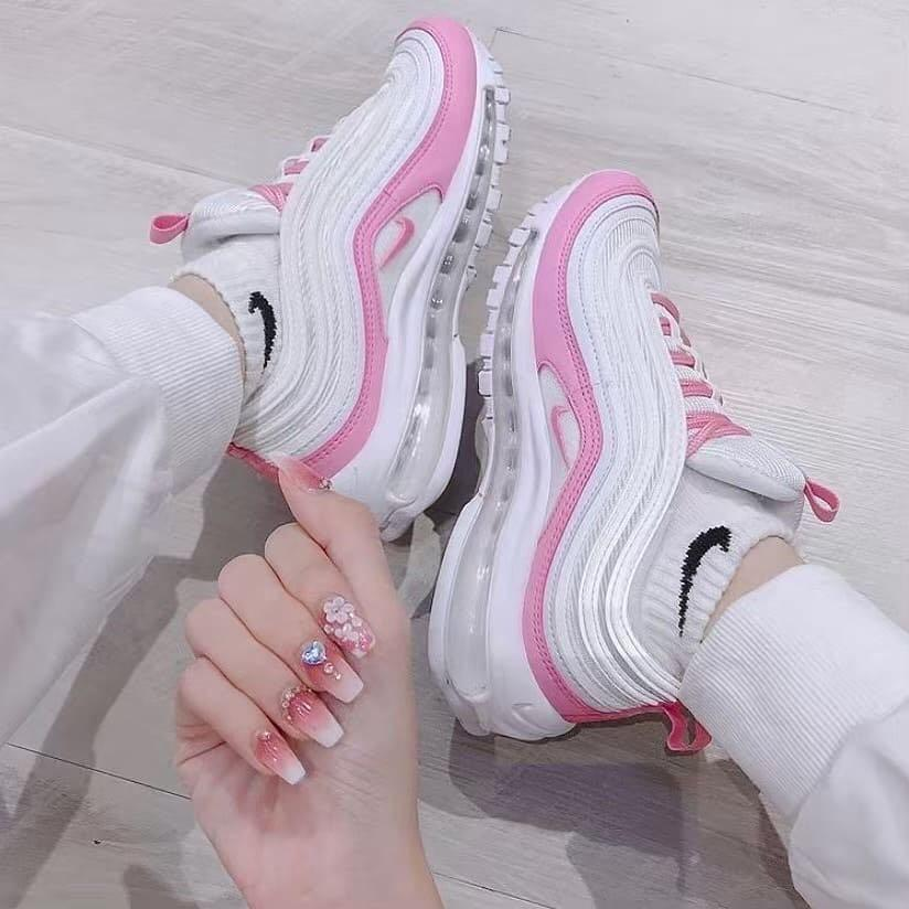 air max 97 white womens on feet