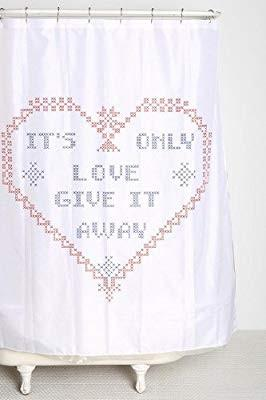 Urban Outfitters Famy Jewels It's Only Love Shower Curtains (BNIP/BNWT)