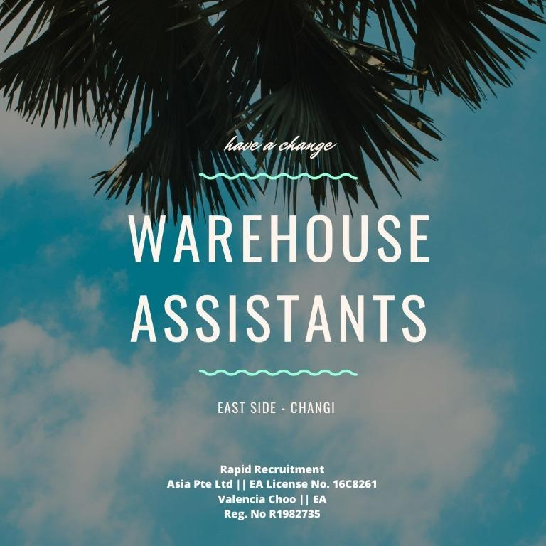 Warehouse Assistants (CHANGI | 1 YEAR | BONUS | AIR CON)