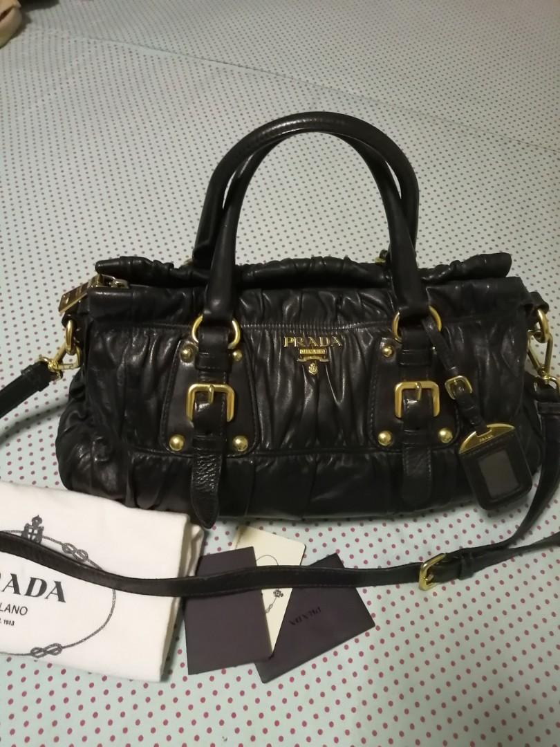 100%Authentic leather Prada bag Prada Handbag woman's bag and wallet health and beauty make up Everything Else Pants Jeans&Shorts Ladies fashion jewelry luxury bags authentic prada bag