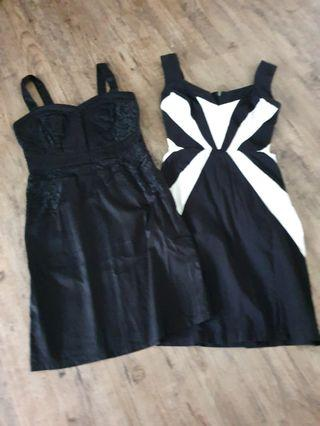 (2 for $7) Black Dresses size S/XS