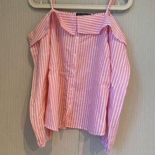 Pink Stripes Sabrina