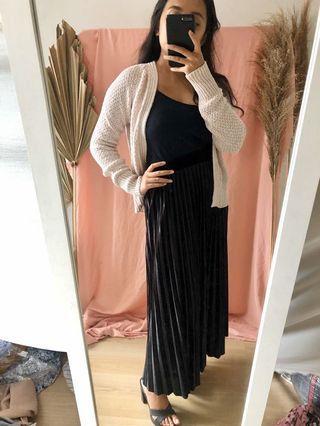 Velvet Pleated skirt (long)