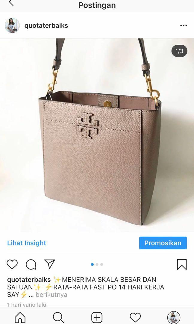 FAVORIT SEPANJANG MASA TORY BURCH MCGRAW HOBO SILVER MAPLE FULL LEATHER CAPCUSS ALWAYS READY STOCK🤩🤩