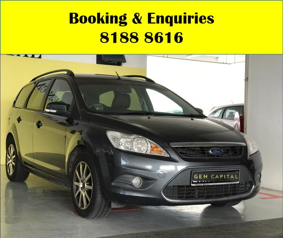 Ford Focus WIN WIN WEDNESDAY!! JUST IN!! Fuel efficeint, spacious & well maintained! FREE Petrol Voucher & FREE rental for new contract signup! Just $500 Deposit driveaway immediately! Whatsapp 8188 8616 now to enjoy special rates!!
