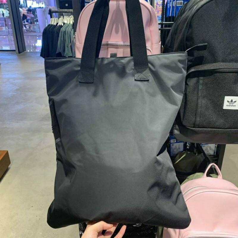 FREE DELIVERY: Adidas Originals Shopper Black Lifestyle Bags New Accessories Shopping Bag-43*12*28 CM