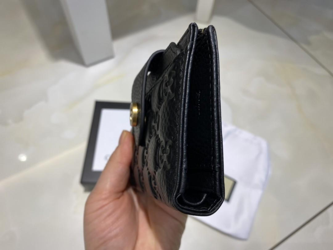 GG full leather wallet embossed clear leather super burdock side installed thousands of no problem buy 1 get 2 models