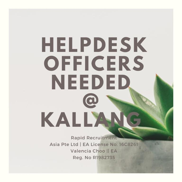 Helpdesk Officers @ Kallang (Healthcare Sector | $8/hr)