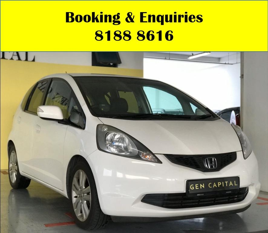 Honda Jazz WIN WIN WEDNESDAY!! JUST IN!! Fuel efficeint, spacious & well maintained! FREE Petrol Voucher & FREE rental for new contract signup! Just $500 Deposit driveaway immediately! Whatsapp 8188 8616 now to enjoy special rates!!