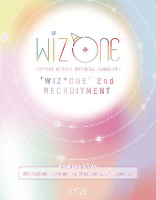 IZ*ONE Official Fan Club 'WIZONE' 2nd Recruitment [HELP TO PURCHASE]