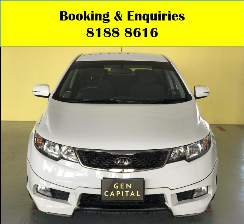 Kia Cerato WIN WIN WEDNESDAY!! JUST IN!! Fuel efficeint, spacious & well maintained! FREE Petrol Voucher & FREE rental for new contract signup! Just $500 Deposit driveaway immediately! Whatsapp 8188 8616 now to enjoy special rates!!