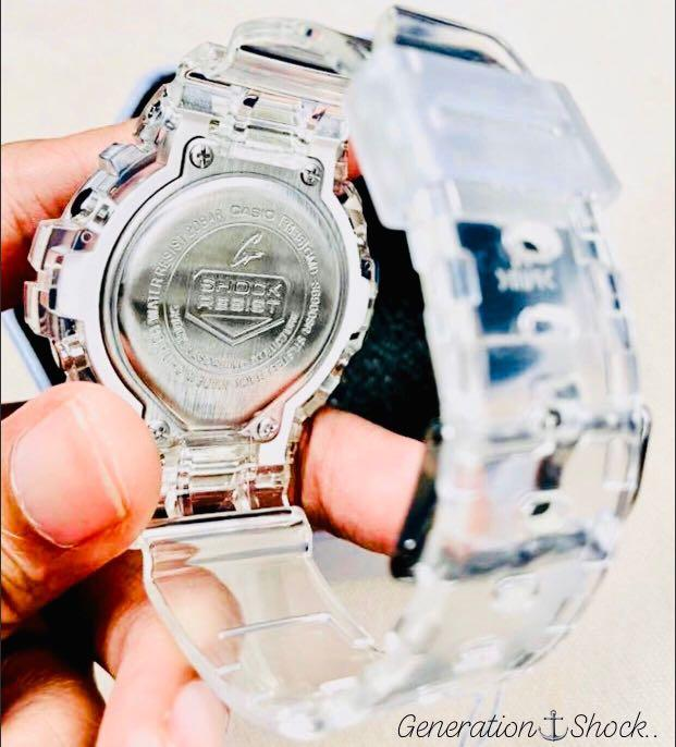 NEW🌟MINI GSHOCK SKELETON UNISEX DIVER SPORTS WATCH : 100% ORIGINAL AUTHENTIC CASIO BABY-G-SHOCK : GMD-S6900SR-7 / DW-6900-7 (CRYSTAL ROSE🌹GOLD)
