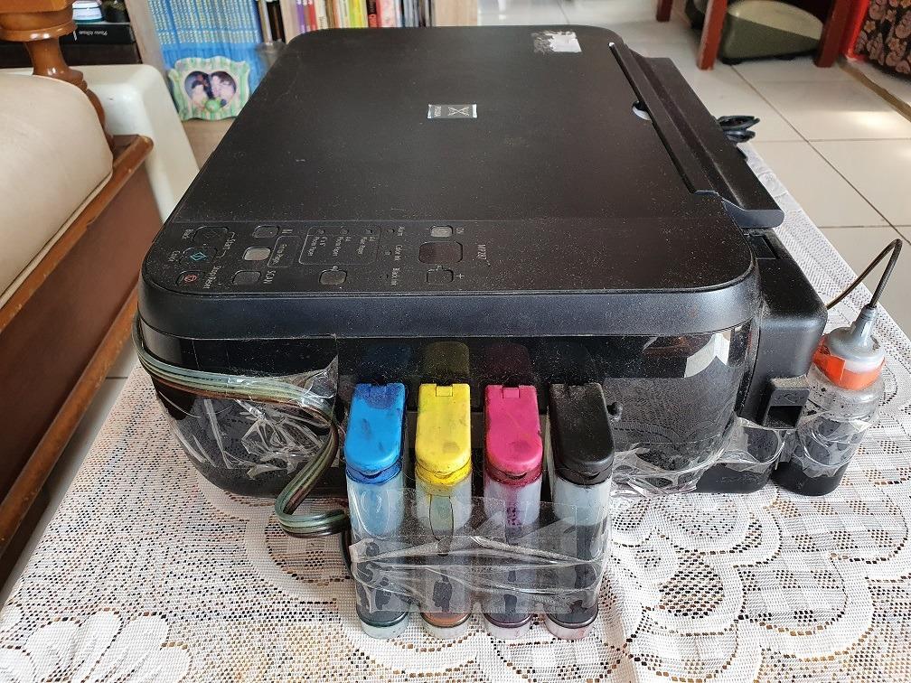 Printer + Scanner Canon Pixma MP287 All in one + Infus Catridge MP 287