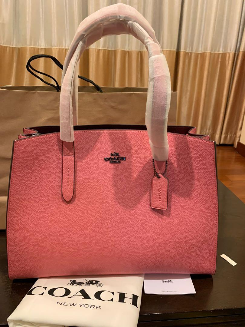 Ready stock Authentic Coach 25137 women Charlie carryall women hand totes bag coach