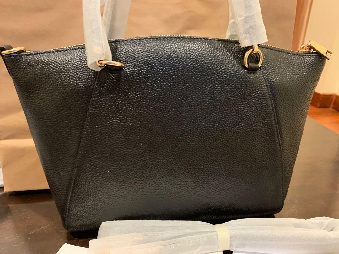 Ready Stock authentic coach 58846 kesley prairie satchel women bag black in