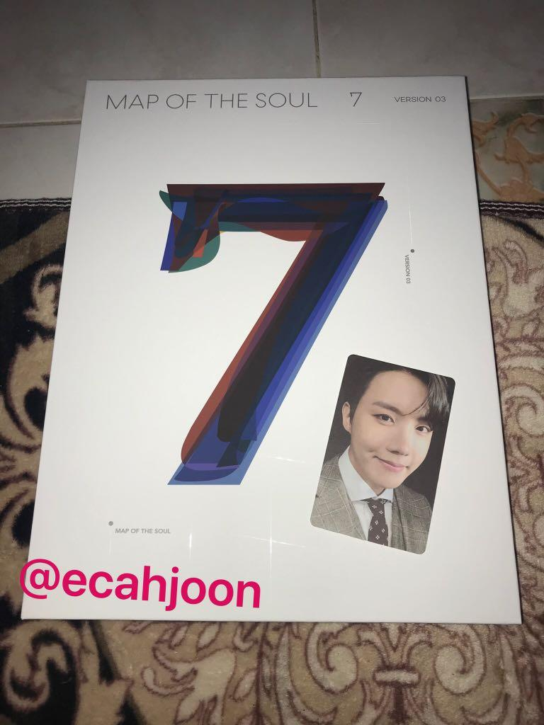 [READY STOCK UNSEALED] BTS - MAP OF THE SOUL : 7 ALBUM (UNSEALED) + PHOTOCARD