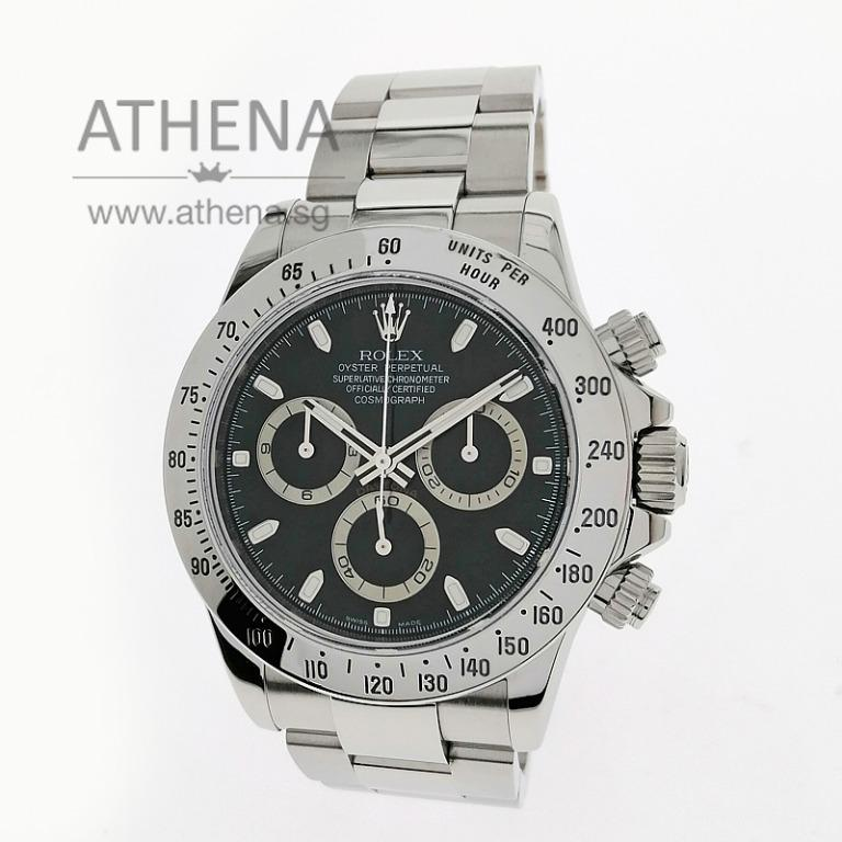 """ROLEX SPORT ROLEX OYSTER PERPETUAL COSMOGRAPH DAYTONA """"AN"""" SERIES """" BLACK INDEX DIAL"""" WITH SVC PAPER 116520 JWWRL_1408"""