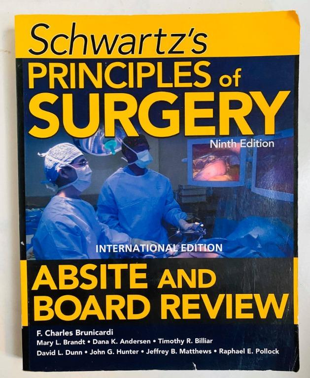 Schwartz Principles of Surgery Absite and Board Review - Cheap Medical Books