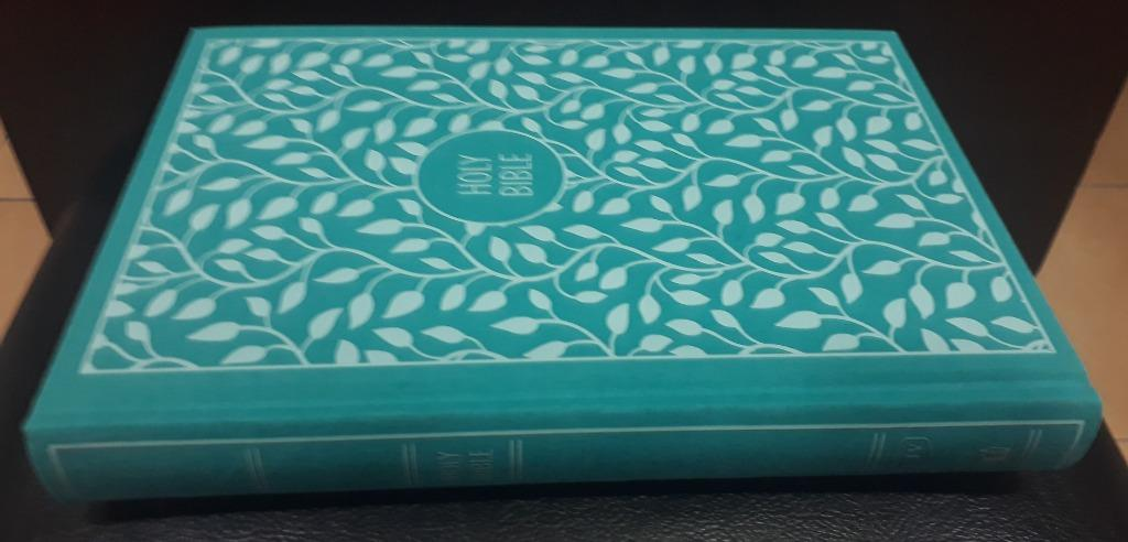Thomas Nelson KJV Large Print Thinline Bible (Turquoise  Cloth Over Board)