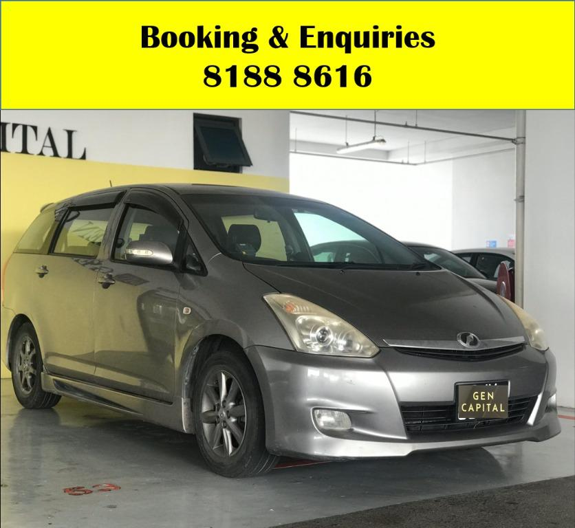 Toyota Wish WIN WIN WEDNESDAY!! JUST IN!! Fuel efficeint, spacious & well maintained! FREE Petrol Voucher & FREE rental for new contract signup! Just $500 Deposit driveaway immediately! Whatsapp 8188 8616 now to enjoy special rates!!