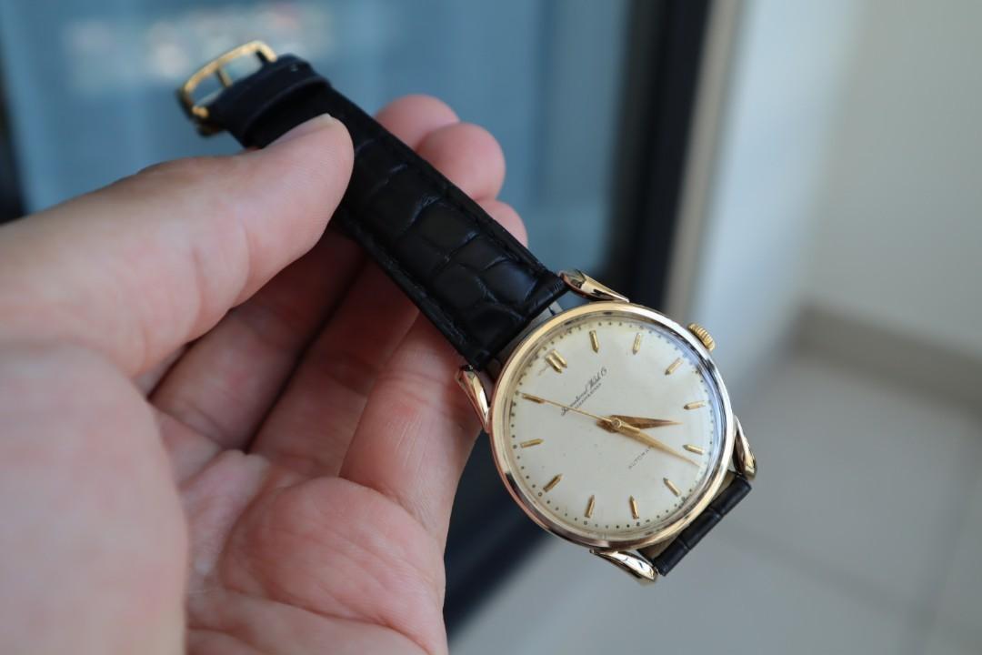 "Vintage iwc ""calatrava style"" 18K Yellow Gold - Rare ""Bombe Lug"" (Caliber.852)"