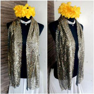 All Gold Glittery Beaded Long ❤Fab Elegant Shawl  like new