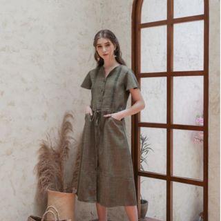 Maven Abigail Dress in Pickle Green