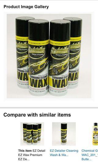 抹車神器 EZ DETAIL Spray Wax Waterless Cleaner with Carnauba 抺車 蠟