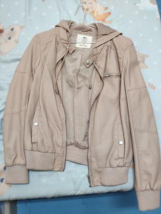 藕粉 皮外套