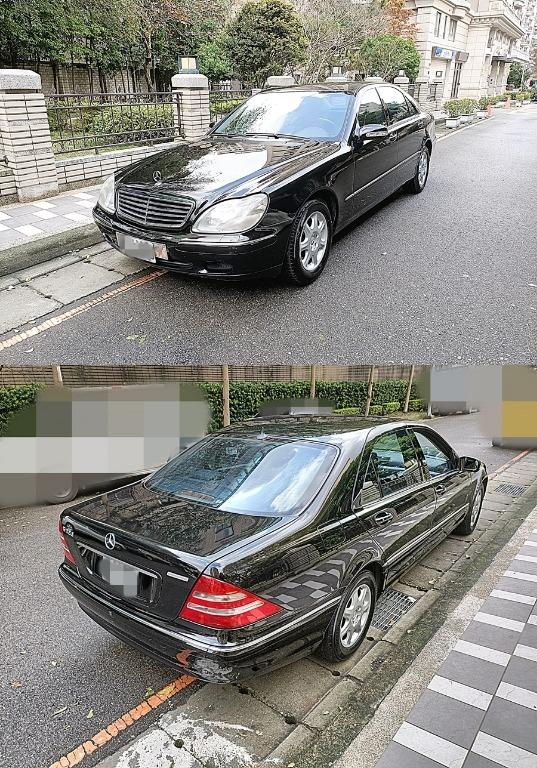 2000年 賓士S320 黑色 公里數實跑11萬多 美車一部!!!