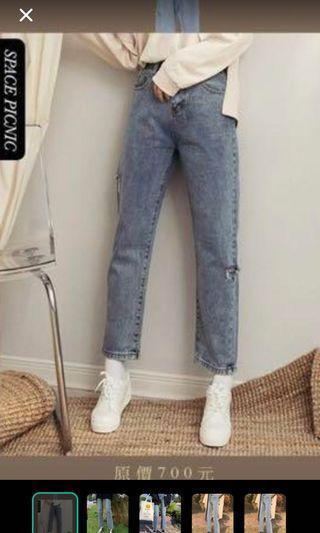 直筒牛仔褲褲