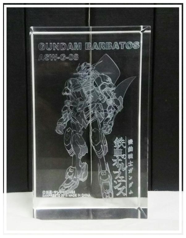 特價景品 機動戰士鋼彈 鐵血孤兒 玻璃擺設 8cm高 x 5cm