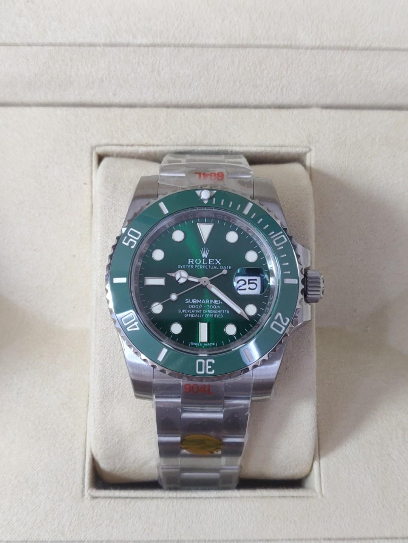 (Best sales) Noob v10 Rolex Submariner Hulk 116610LV SS 904L Green Dial Swiss 3135