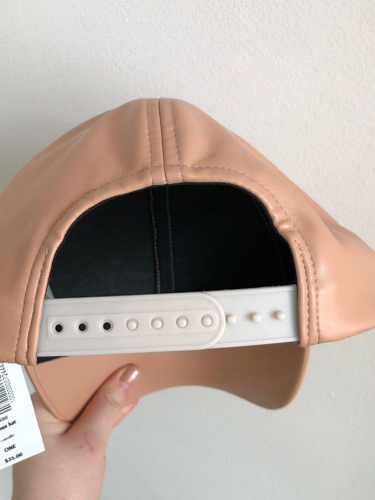 BNWT ARITZIA WILFRED FREE LEATHER BALL CAP ONE SIZE