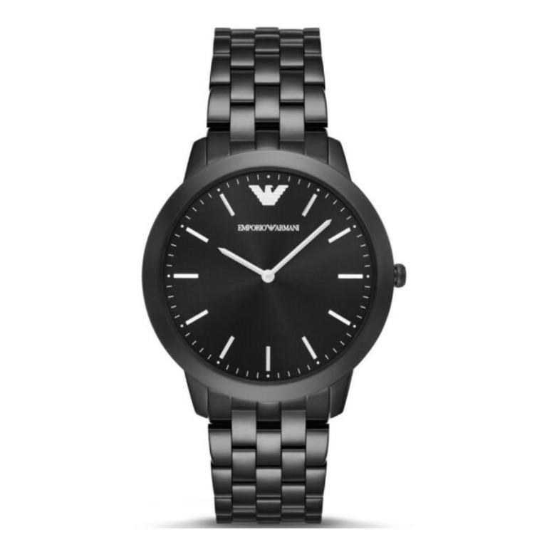 Brand New Emporio Armani Classic Men's Watch Gunmetal Dial Stainless Steel Bracelet (AR2488)