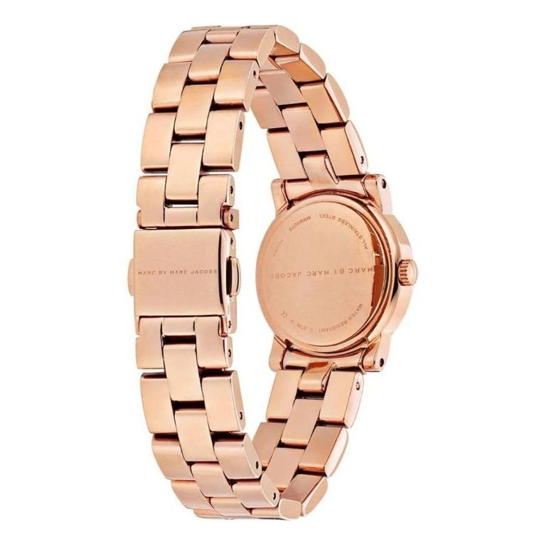 Brand New MARC BY MARC JACOBS Mini Amy White Dial Rose Gold-tone Stainless Steel Ladies Watch (MBM3078)