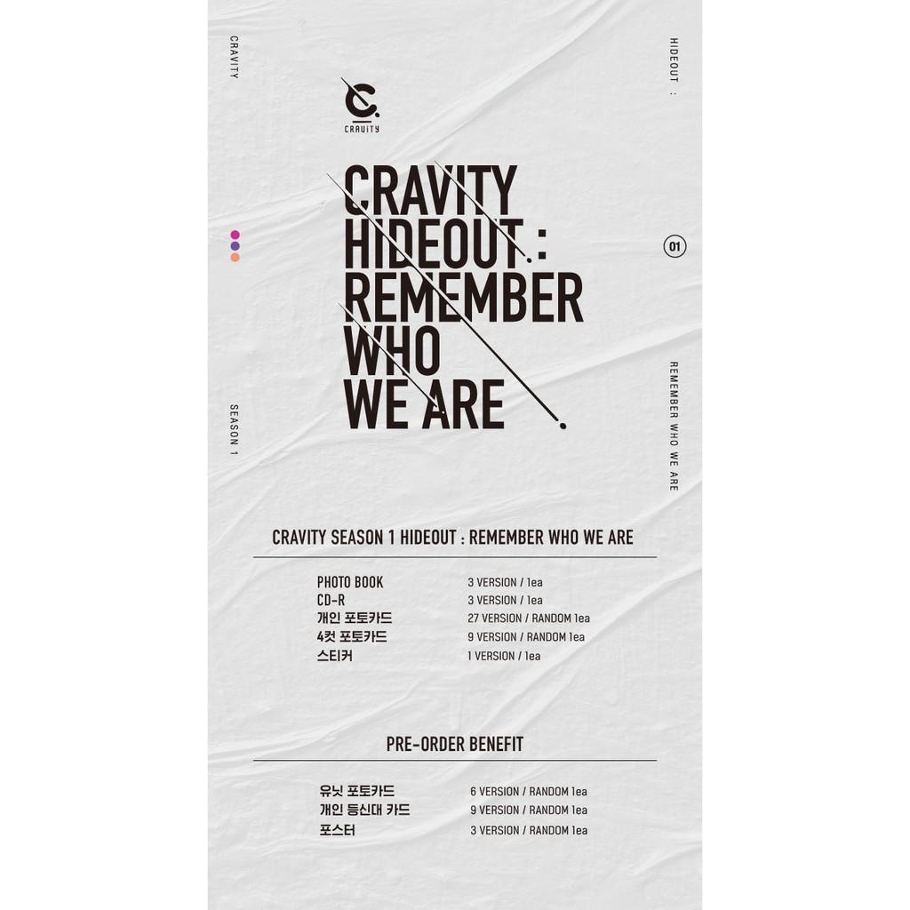 CRAVITY - Album SEASON1. [HIDEOUT: REMEMBER WHO WE ARE]