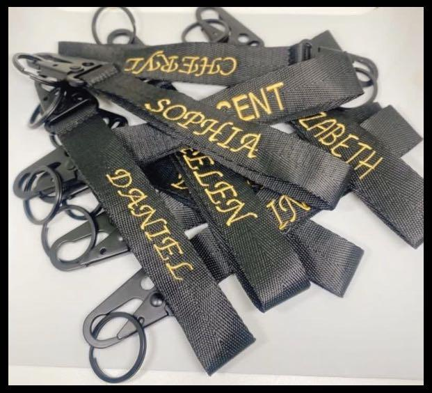Customized Embroidery Titanium Steel Keychains   🔥 🔥 GET YOUR CUSTOMIZED EMBROIDERY NAME KEYCHAIN WITHIN ONE DAY 🔥 🔥