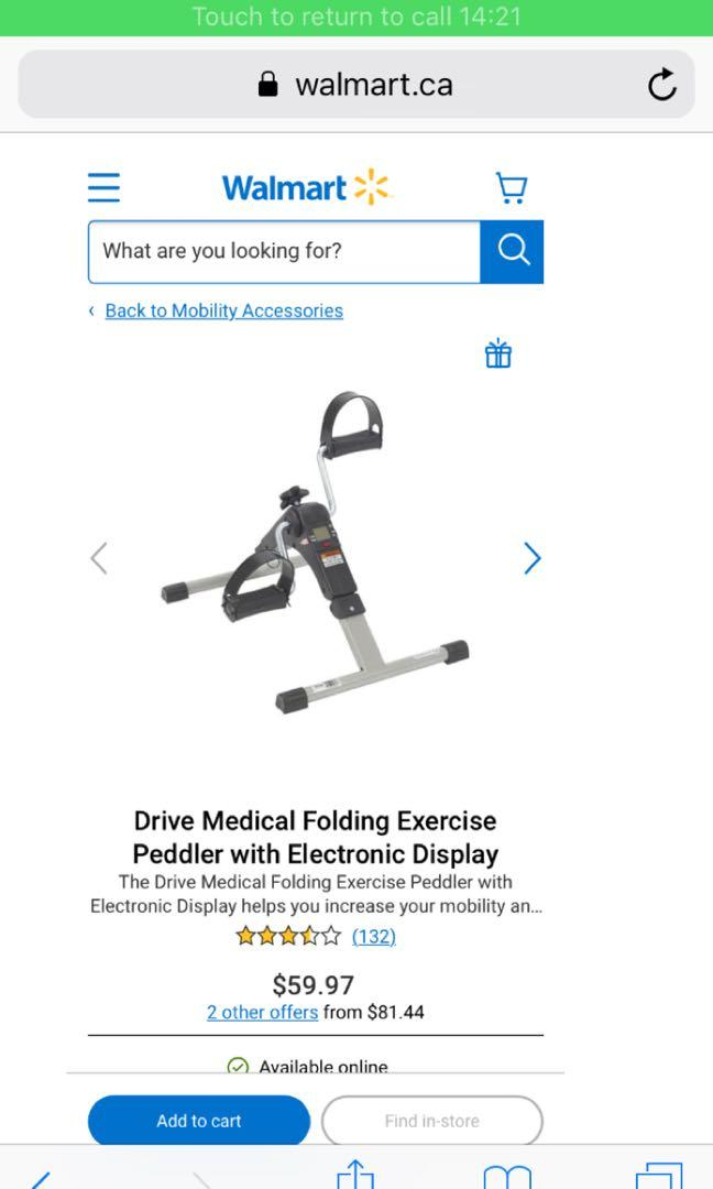 Electronic exercise peddler with electronic display